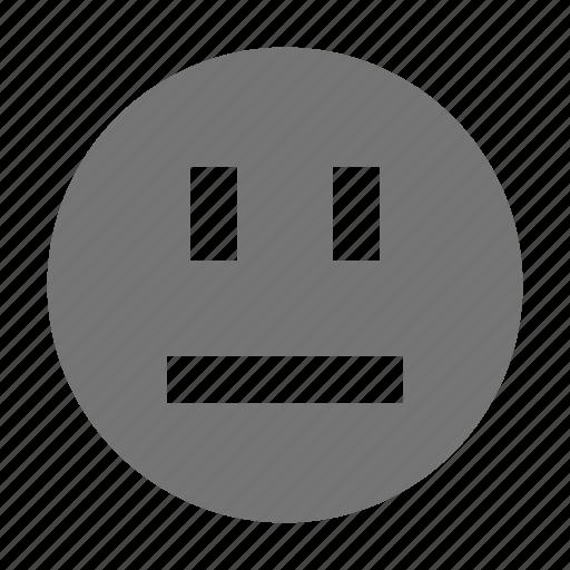 emoji, face, straight icon