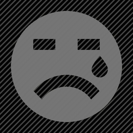 cry, emoji, sad, tear icon