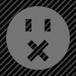emoji, mute, silence, silent icon