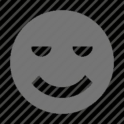 emoji, relaxed, smile icon