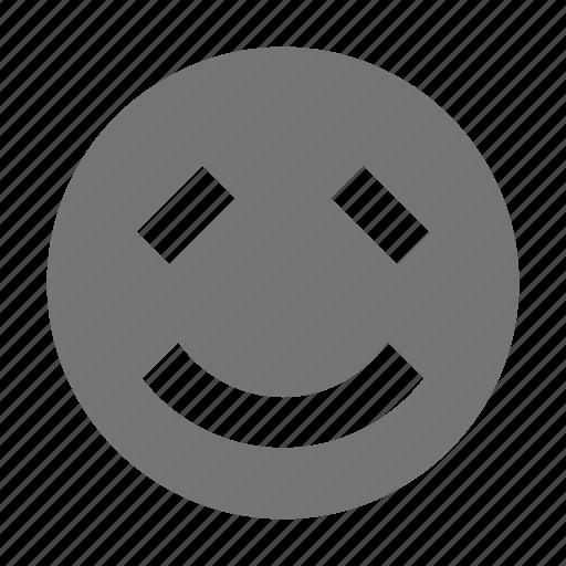 bashful, emoji, shy, smile icon