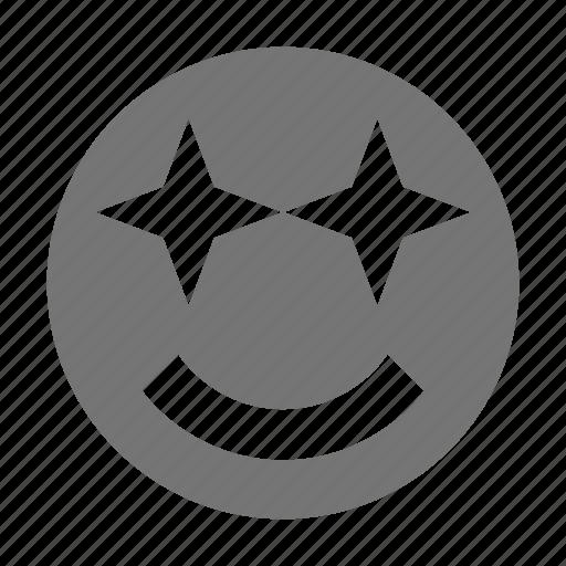 emoji, smile, stars icon