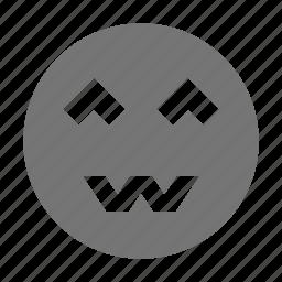emoji, smile, worry icon