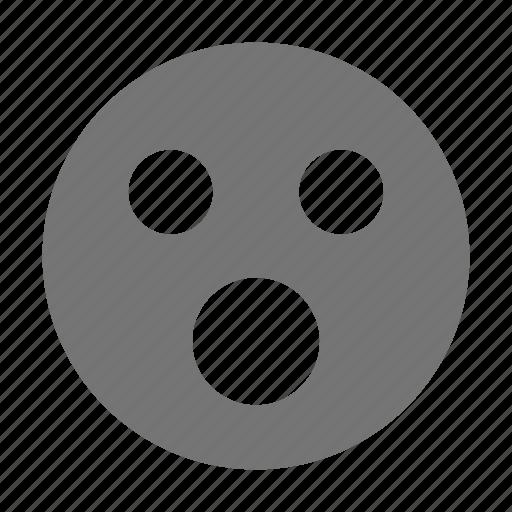 afraid, emoji, scared, shock, surprise icon