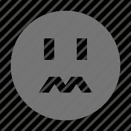 emoji, stress, worry icon