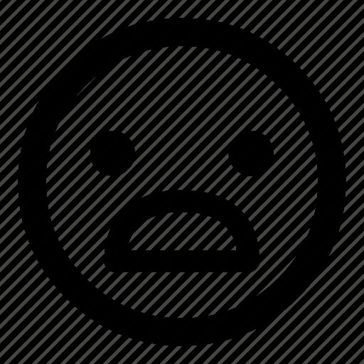 emoticon, emoticons, sad, smiley, surprised, unhappy icon