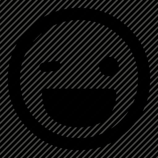 ;d, emoticon, happy, laugh, smiley, wink icon