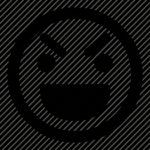 :d, emoticon, emoticons, evil, grin, happy, smiley icon