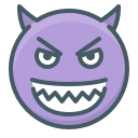 angry, devil, evil, face, grin, smile, smiley