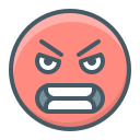 angry, emoji, evil, face, hatred