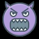 angry, demon, devil, emoji, evil, face, hatred