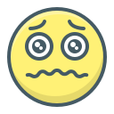 alarmed, emoji, face, sad, saddened icon