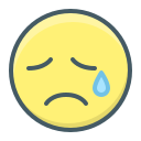 cry, emoji, face, sad, sadness icon