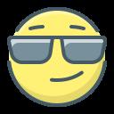 face, glasses, smile, smiley icon