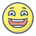 face, laughter, lol, positive, smile, smiley icon