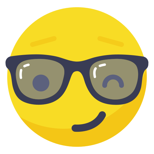 Boss, fun, glasses, playful, smile, smiley, wink icon - Free download