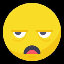 bored, dull, sleepy, smile, smiley, tired, unamazed icon