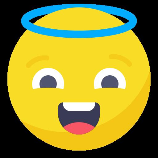 angel, avatar, face, happy, saint, smile, smiley icon