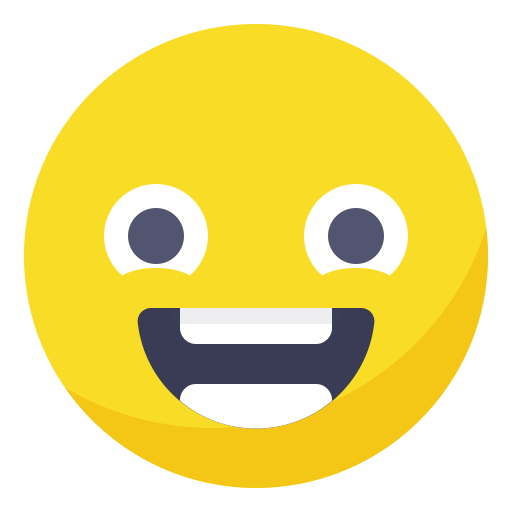 Excited, face, happy, positive, smile, smiley, welcoming icon - Free download