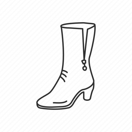 boots, footwear, lady, shoe, woman, woman boots icon