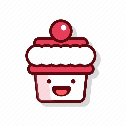 birthday, candle, cherry, cream, cupcake, muffin, sweet icon