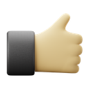 thumbs, up, 3d