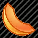 cantaloupe, fruit, melon, slice icon