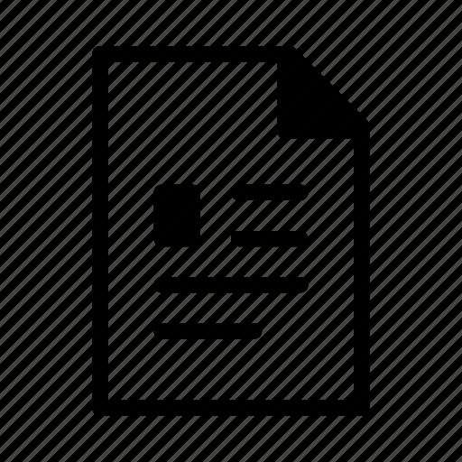 cv, doc, document, profile icon