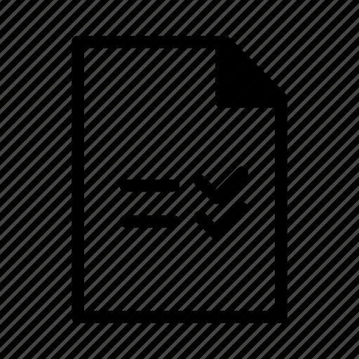 checklist, checkmark, document, file, reminder icon