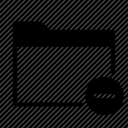 collection, delete, folder, group, minus, remove icon