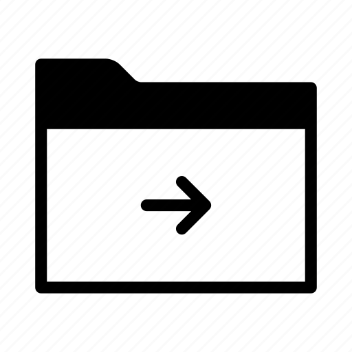 arrow, collection, folder, forward, group, move icon