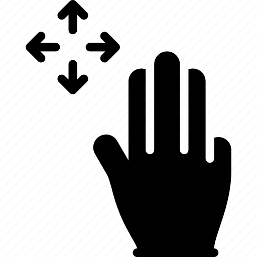 Finger, gesture, hand, move, touch icon - Download on Iconfinder