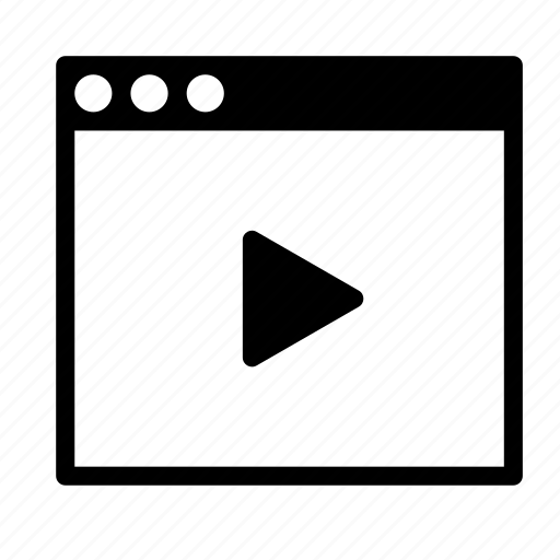 application, interface, movie, video, window icon