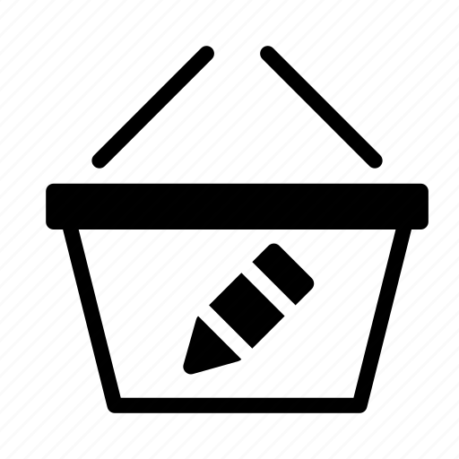 basket, buy, edit, pen, shop, shopping icon