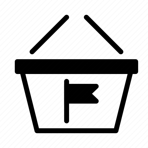 basket, buy, flag, mark, shop, shopping icon