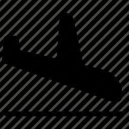 aircraft, airplane, destination, flight, landing, transport icon