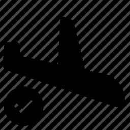 aircraft, airplane, destination, flight, landing, travel icon