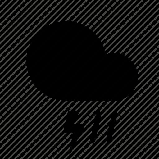 cloud, forecast, lightning, rain, storm, weather icon