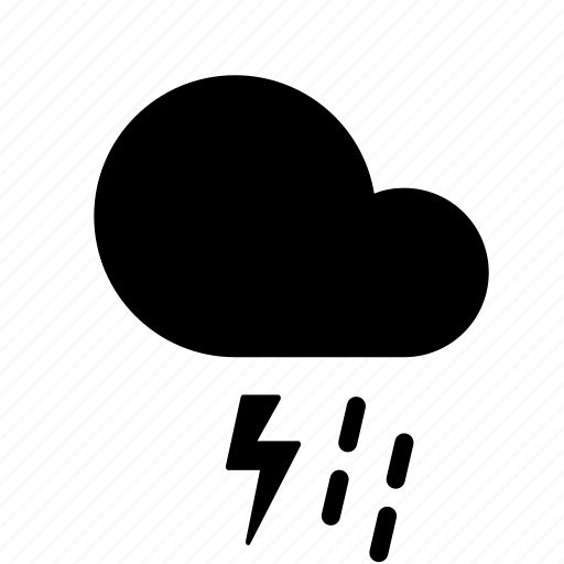 cloud, forecast, lightning, rain, shower, thunderstorm, weather icon