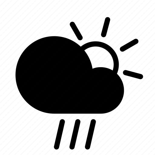 cloud, day, forecast, rain, sun, weather icon