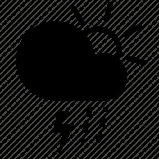 day, forecast, lightning, rain, sleet, storm, weather icon