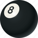 ball, billiards, eight-ball, equipment, sports icon