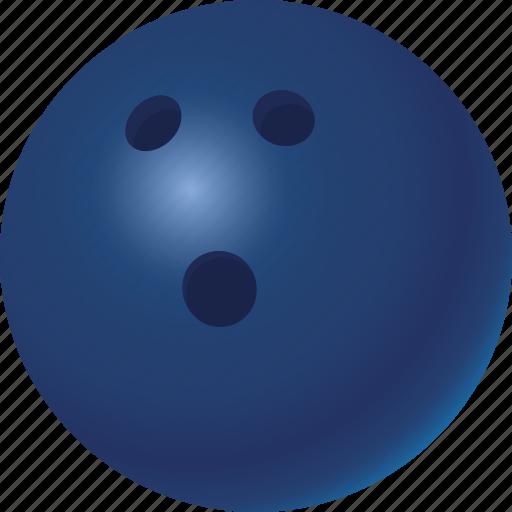 ball, bowling, equipment, sports icon