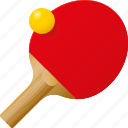 ball, equipment, paddle, ping pong, racket, sports, table tennis icon