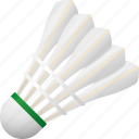 badminton, equipment, feathers, shuttlecock, sports icon