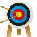 archery, arrows, equipment, sports, target, target sports icon