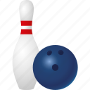 ball, bowling, equipment, pin, sports, target sports icon