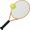 ball, equipment, racket, sports, tennis icon