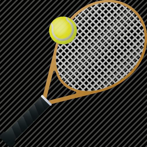 ball, equipment, racket, sports, tennis icon