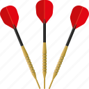 arrows, darts, equipment, sports, target sports icon